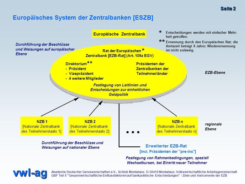... * ** * ** Europäisches System der Zentralbanken [ESZB]